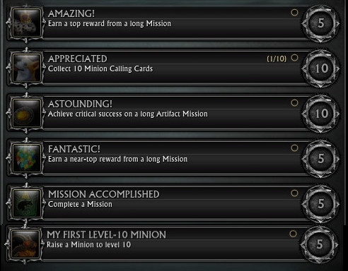 Minions Achievements