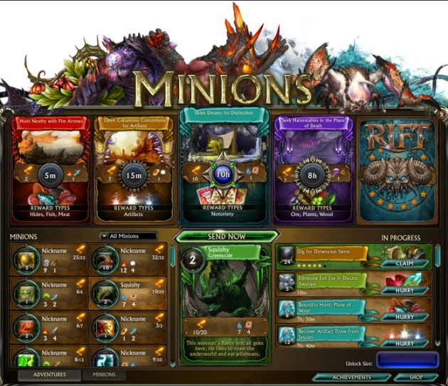 Minions UI WIP Massively