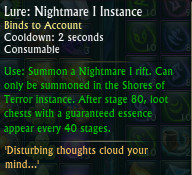 New Nightmare I Instance Lure Tooltip