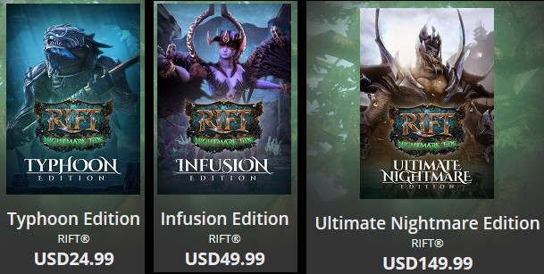 RIFT 3.0 Nightmare Tide Digital Collectors Editions