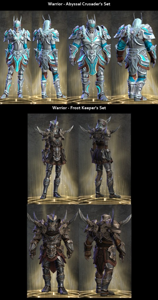 RiftGrate Warrior 3.0 Armor Sets Visual