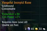Vengeful Intrepid Rune PTS