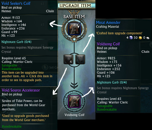 Void Seekers Upgrade Path Example
