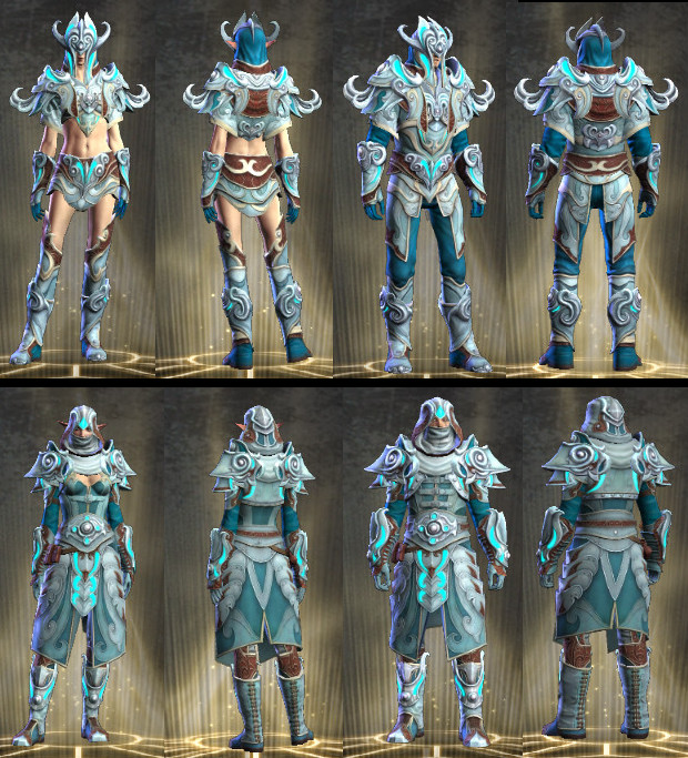 Abyssal Crusader's Gear Models Mage and Rogues