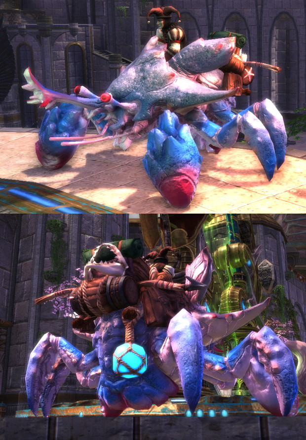 Cobalt Crabnarok Mount Preview Front and Back