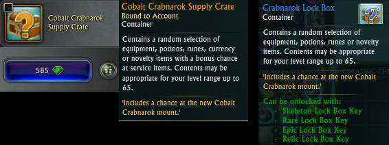 Cobalt Crabnarok Supply and Lockboxes