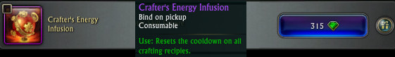 Crafter's Energy Infusion