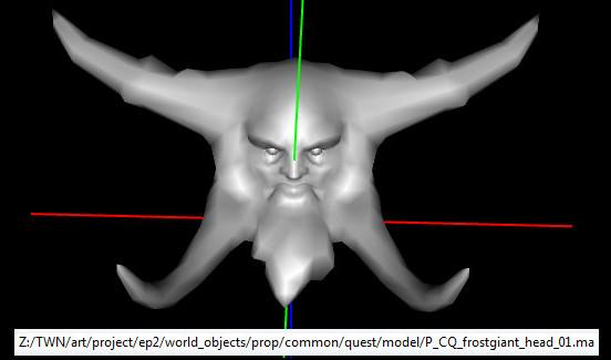 Frostgiant Head Model