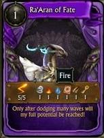 Hidden Minion Card - Ra'Aran of Fate