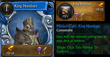 King Humbart Minion Card