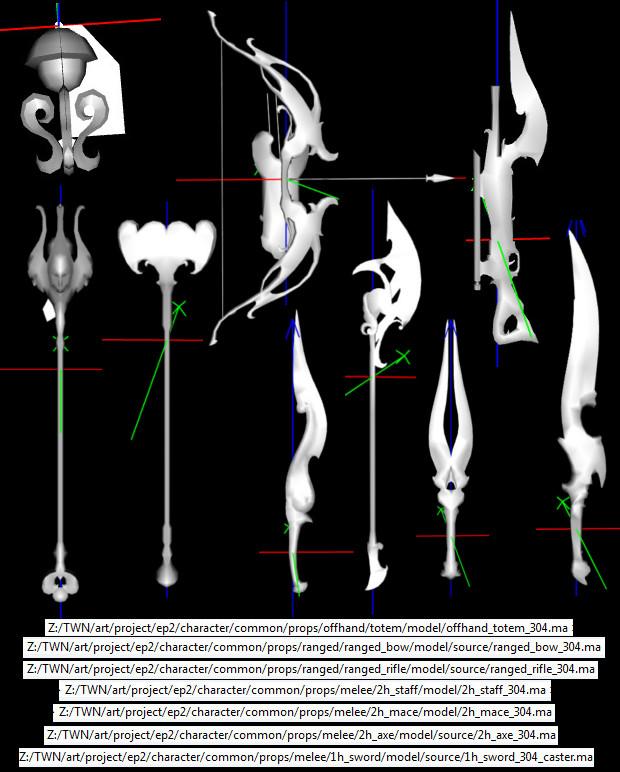 More Onir Weaponry Models