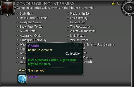 Mount Sharax Conqueror Achievement