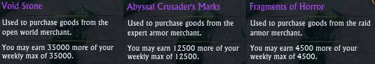 Nightmare Tide Currency Tooltips
