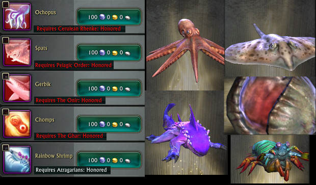 Nightmare Tide Notoriety Companion Pets