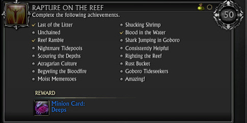 Rapture on the Reef Achievement