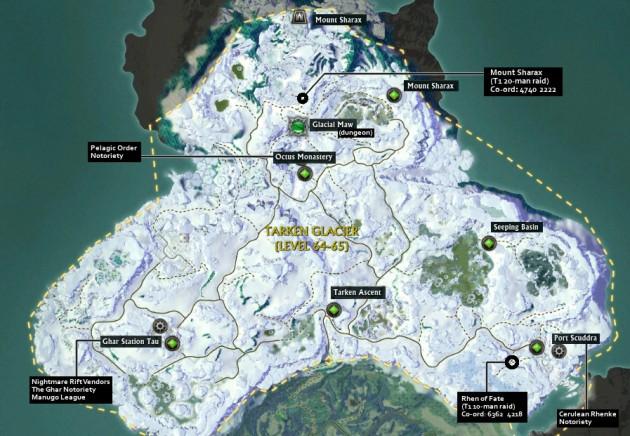 Tarken Glacier Map Porticulum Location Information