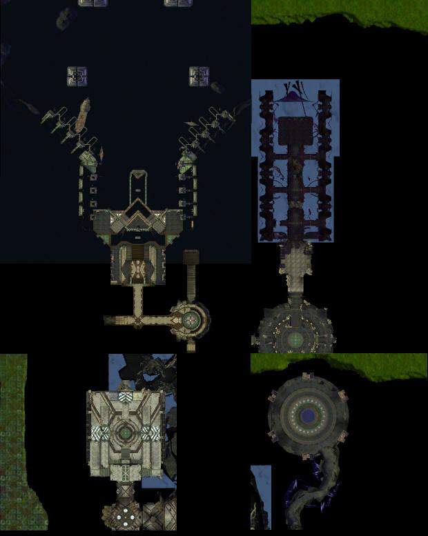 Various Hammerknell Fortress Minimaps