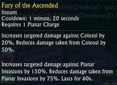 Fury of the Ascended Change