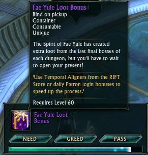Fae Yule Loot Bonus