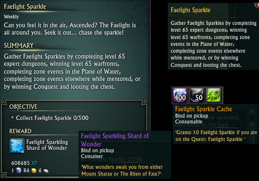 Faelight Sparkle Quest