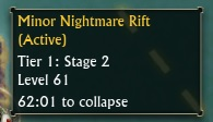 Nightmare Rift Hover Text