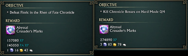 Chronicle Dailies Reward Adjustment