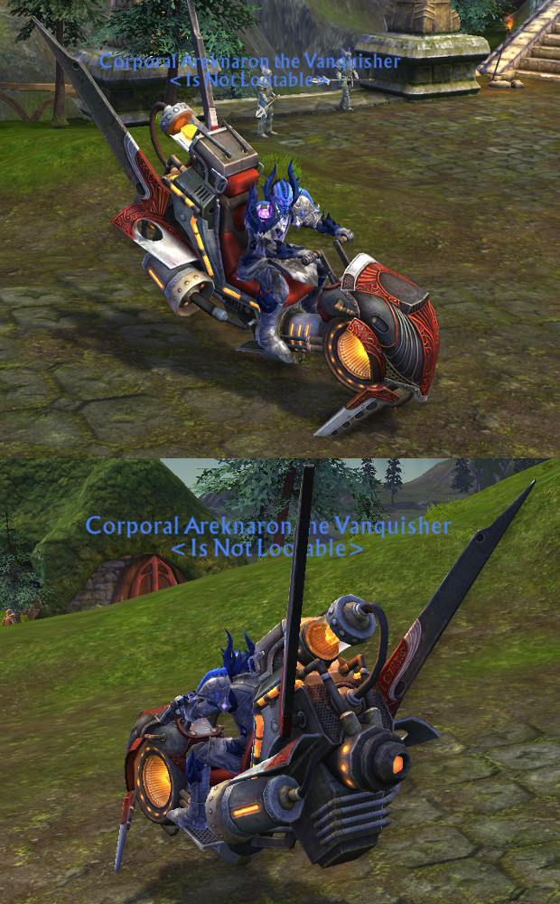 Crimson Arclight Lifter Mount Areknaron Model