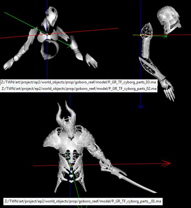 Cyborg Parts Models