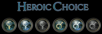 Heroic Choice Text and Gender Buttons