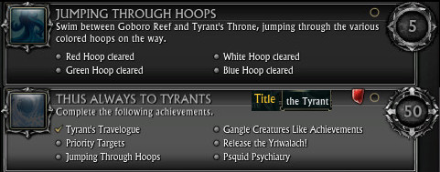 New Tyrant's Throne Achievements