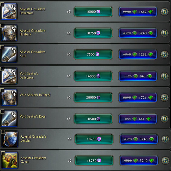RIFT Store Weapon and Armor 25pc Credit Discount