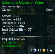 Unbending Gloves of Virtue