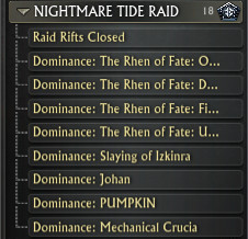 Nightmare Tide Raid Leaderboard Tyrant's Forge