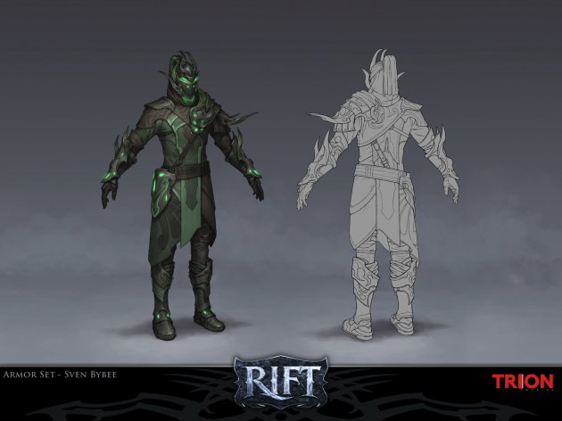 RIFT Concept Art Nightmare Armor - Rogue