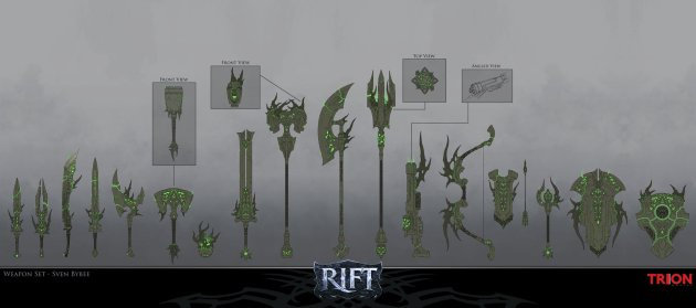 RIFT Concept Art Nightmare Weapon Set 2
