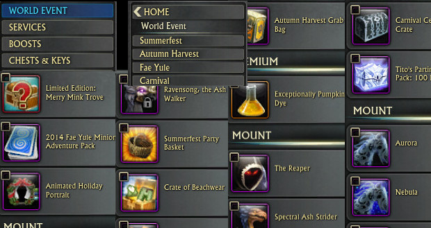 RIFT Store World Event Combined