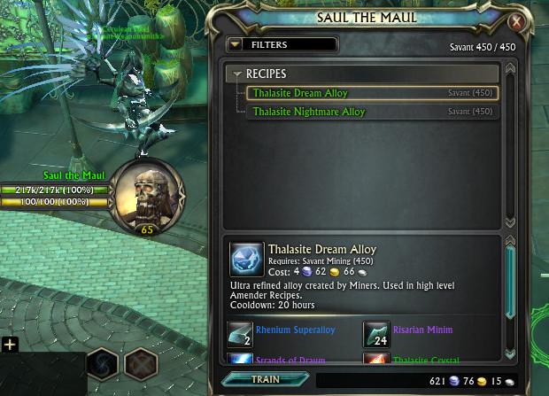 Thalasite Dream Alloy Nightmare Alloy Mining Trainer