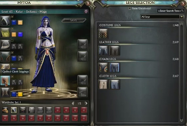 3.2 Wardrobe System Legs Selection