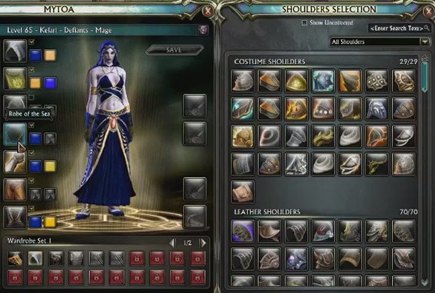 3.2 Wardrobe System Shoulders Selection