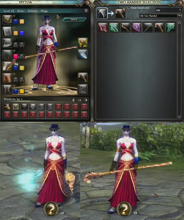 3.2 Wardrobe System Weapon Wardrobe