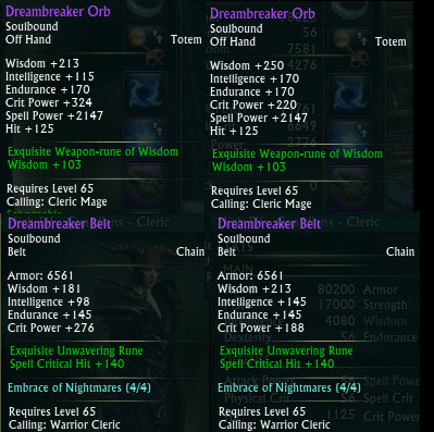 Example Dreambreaker Adjustments