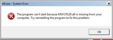 MSVCP120.dll Error
