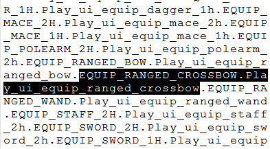 Ranged Crossbow
