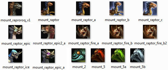 Rift Icons March 2015 Mount Items