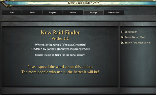 Addon Watch New Raid Finder 4