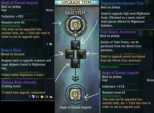 Aegis of Eternal Anguish Nightmare Seal 1st Upgrade 3.2