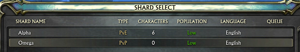 Alpha and Omega Shard Select