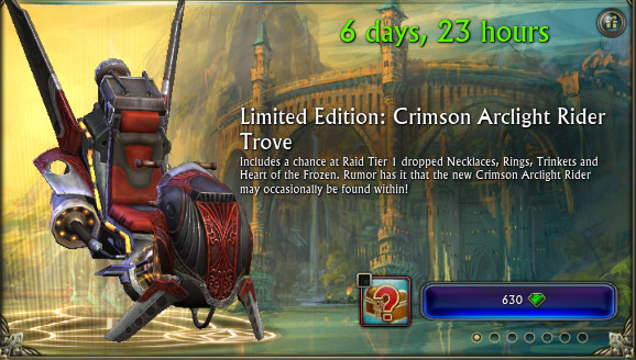 Crimson Arclight Rider Mount RIFT Store Preview