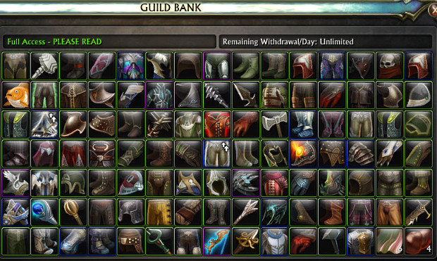 Guild Bank Appearances
