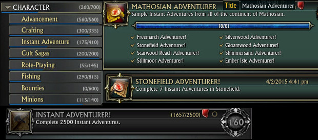 Instant Adventure Achievements